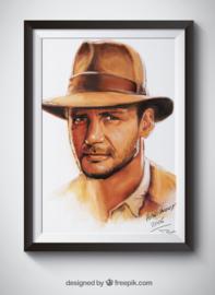 Indiana Jones digitaal schilderij
