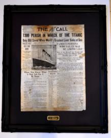Titanic voorpagina facsimile