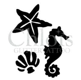 Seahorse, Sea star, Shell (MS) (5 pcs)