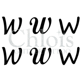Letter W (MS 6) (1 pcs)