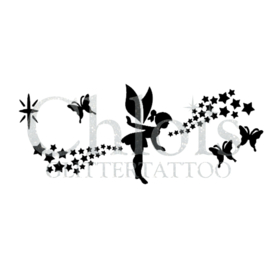Fairy, butterflies and stars (5 pcs)