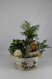 Plantenbakje zink rond (groen)