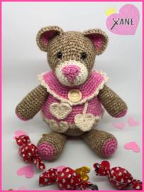 Haakpakket uitdeelzakje Valentijnsbeertje