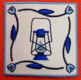 Delftsblauw badge Stormlamp