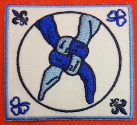 Delftsblauwe vriendschapsknoop [ NIEUW ]