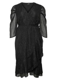 VMLISA 3/4 s/l wrap dress black