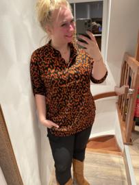 Blouse panter roest Magna fashion
