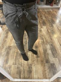 Paperbag broek grijs