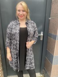 Grijze blouse Magna fashion C7005