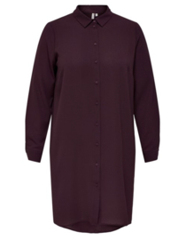 CARLUXSILVIA ls knee shirt dress winetasting