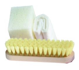 Brush, sponge, cloth