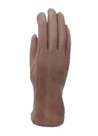 Daim look-a-like gloves pink