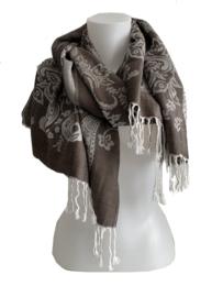 Pashmina taupe-beige sjaal