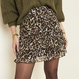 Skirt Autumn Leopard, Kort rokje met leopard print