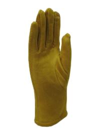 Daim look-a-like gloves oker/ mosterd