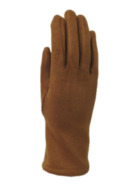 Daim look-a-like gloves camel