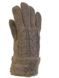 Dikke handschoenen gevoerd, taupe