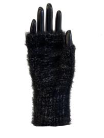 Handschoenen zonder vingers, glinster zwart