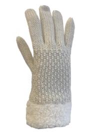 Dikke handschoenen, gevoerd wit/beige
