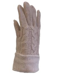 Dikke handschoenen, gevoerd roze