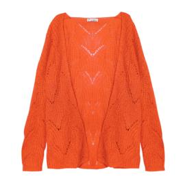 Cardigan Comfy in oranje