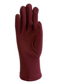 Daim look-a-like gloves bordeaux