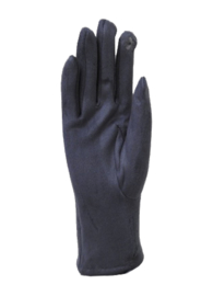 Velvet gloves grey