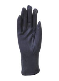 Daim look-a-like gloves grey