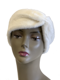 Haarband imitatiebont wit