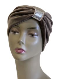 Haarband soft bruin
