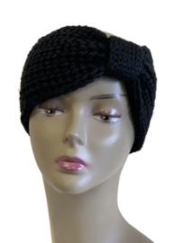 Haarband dikke brei, zwart