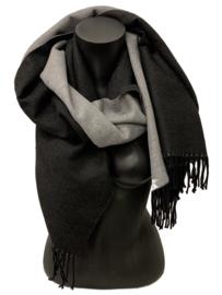 Fashion Sjaal, zwart-grijs