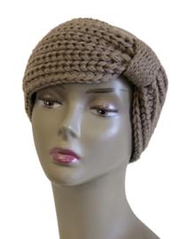Haarband dikke brei, bruin
