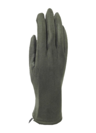 Velvet gloves kaki