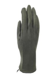 Daim look-a-like gloves kaki