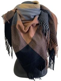 Malse, warme tipsjaal met diverse kleuren, makkelijk combineerbaar