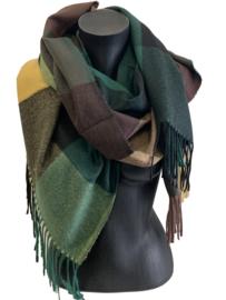 Malse, warme sjaal met diverse kleuren.