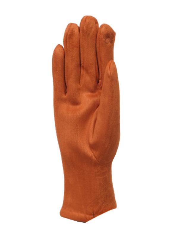 Daim look-a-like gloves brick
