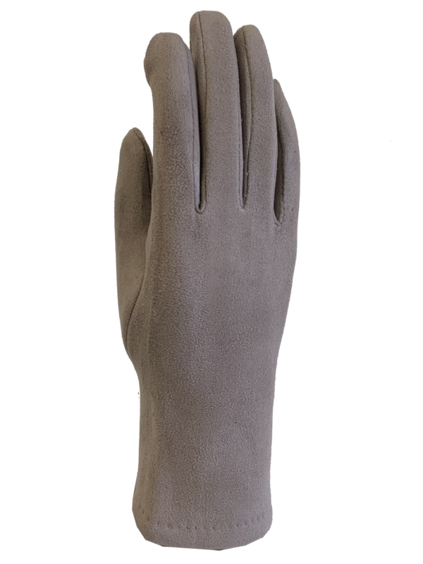 Daim look-a-like gloves taupe
