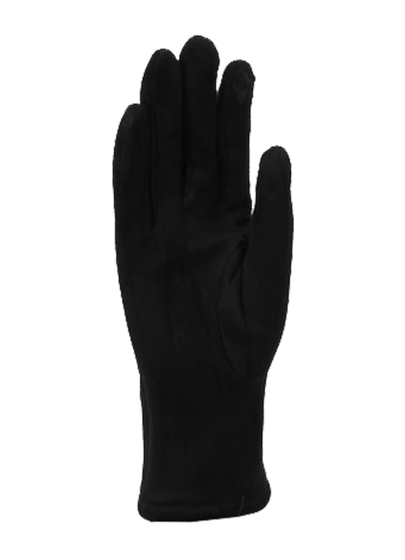 Daim look-a-like gloves black