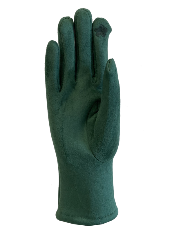 Daim look-a-like gloves groen