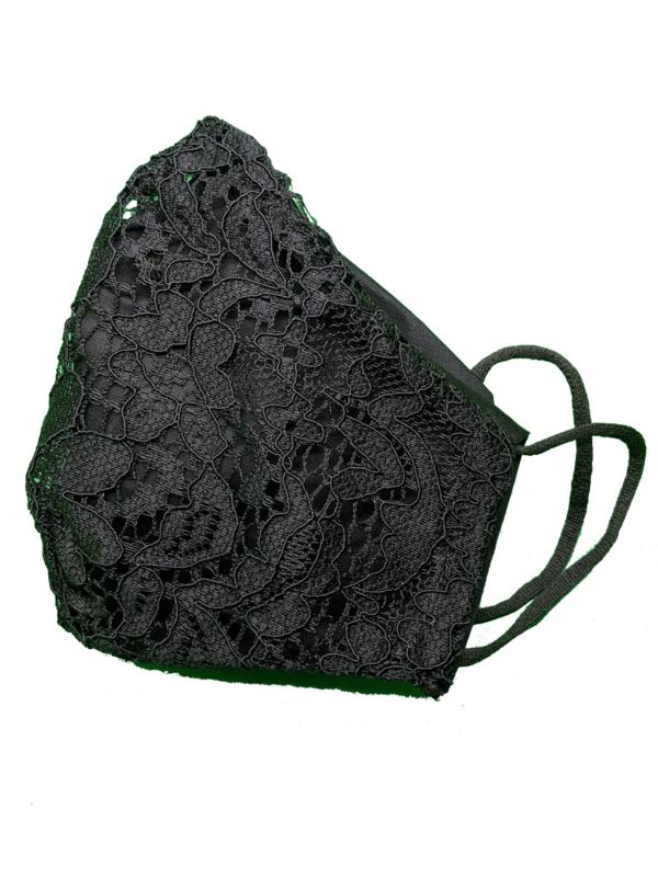 Zwart Kant met elastische oortjes