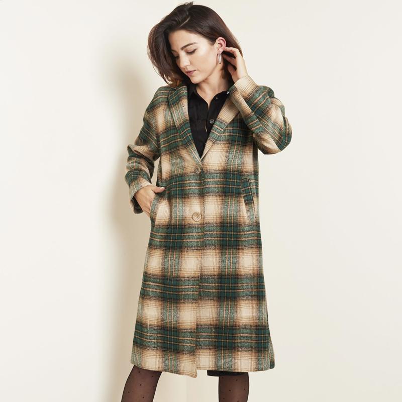 Jacket Checkered, geruite mantel
