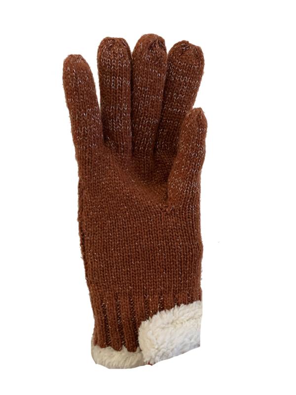 Dikke handschoenen, gevoerd brick