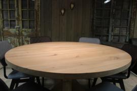 Eikenhouten ronde tafelblad