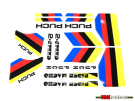 Sticker set wit Puch 2-Speed