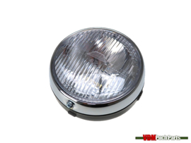 Headlight round black Guia 145mm Puch