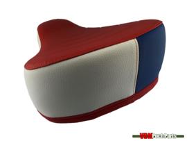 Puch Sattel Dicke Version (Rot/Weiß/Blau)
