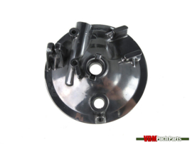 Brake anchor plate front wheel polished aluminium Puch MV/MS/VS/DS