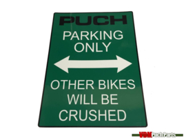 Sticker Puch Parking Only (Green)